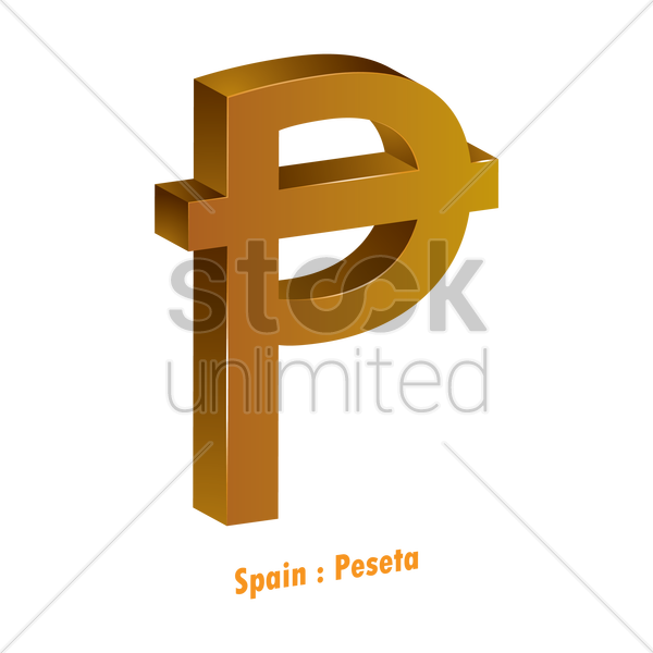 Peseta Currency Symbol Vector Image 1821593 Stockunlimited
