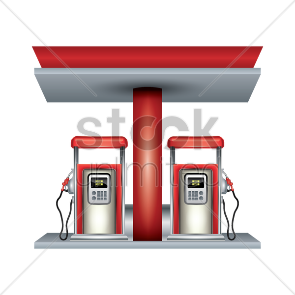 Petrol Station Vector Image 1944305 Stockunlimited
