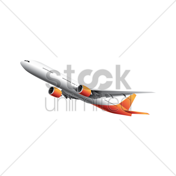 plane flying vector graphic