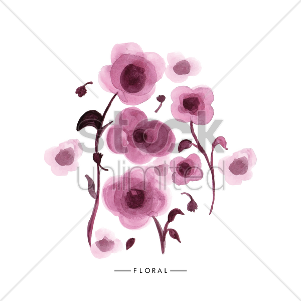 Poppy flowers vector image 1611889 stockunlimited poppy flowers vector graphic mightylinksfo