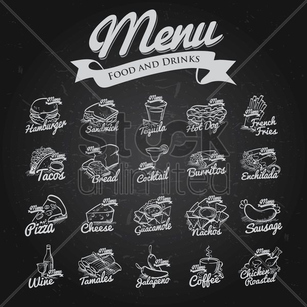 restaurant menu collection vector graphic