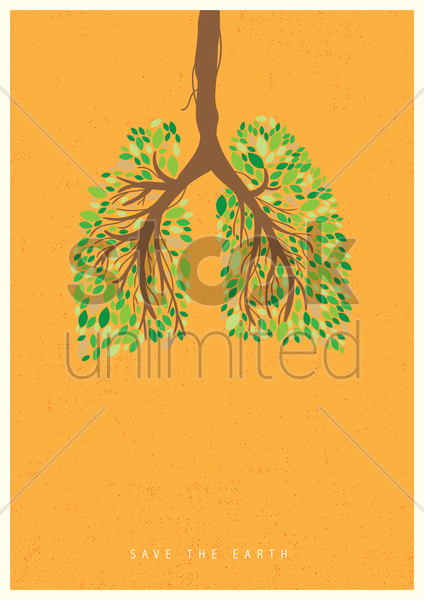 save the earth concept vector graphic