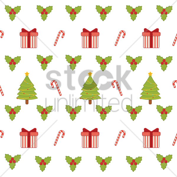 seamless christmas background vector graphic