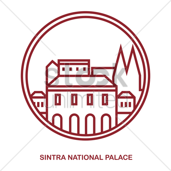 sintra national palace vector graphic
