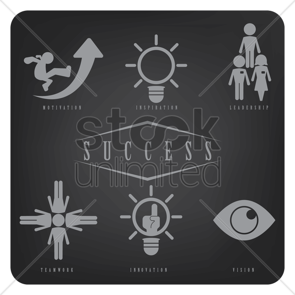 success icons vector graphic