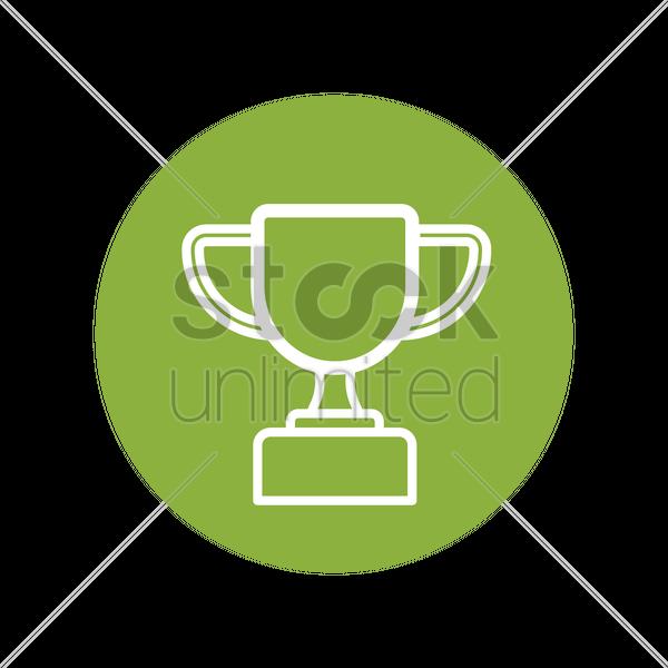 Trophy Icon Vector Graphic