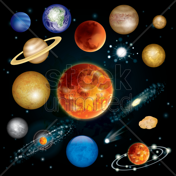 universe vector graphic