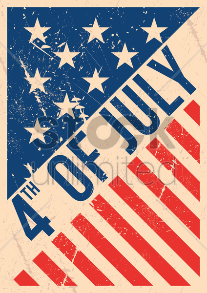 usa independence day poster vector graphic
