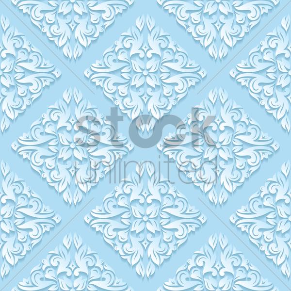 Vintage Pattern Background Vector Graphic