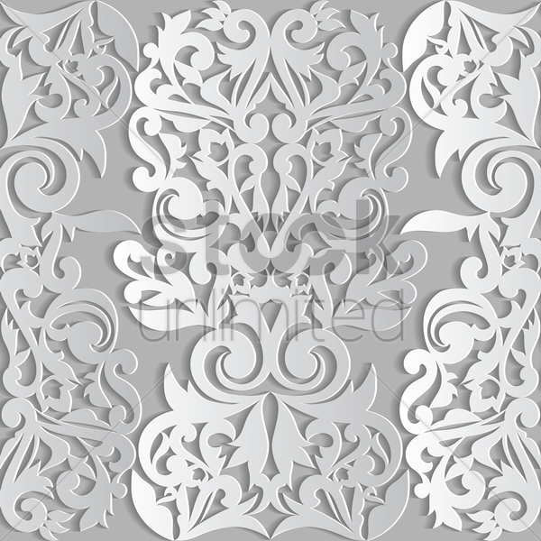 vintage pattern background vector graphic
