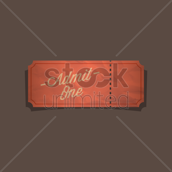 vintage ticket vector graphic