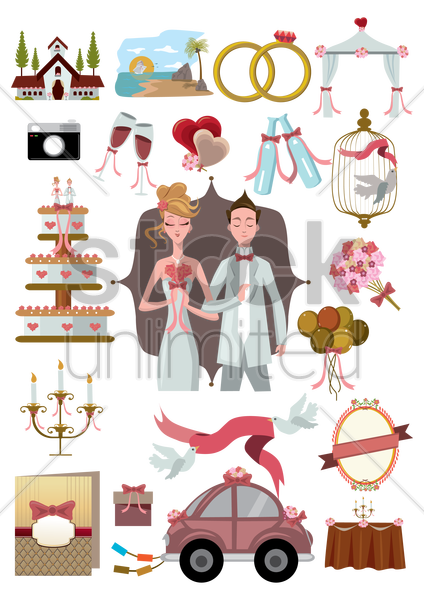 Free wedding articles vector graphic