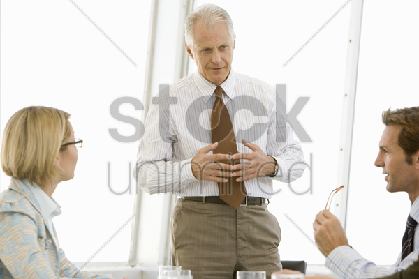 business meeting in conference room stock photo