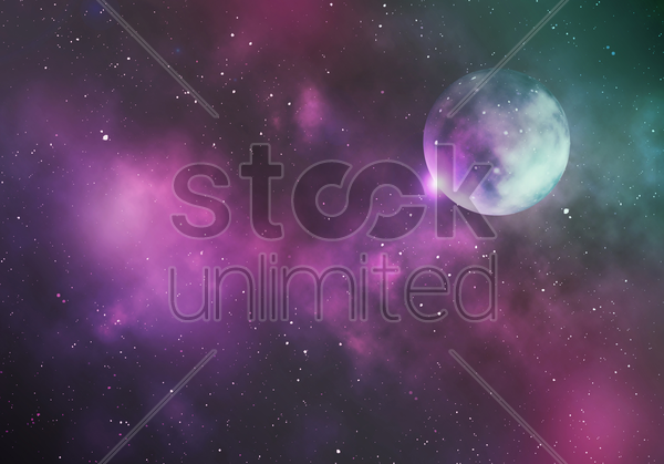 galaxy background design stock photo