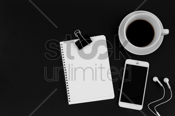 office items concept stock photo