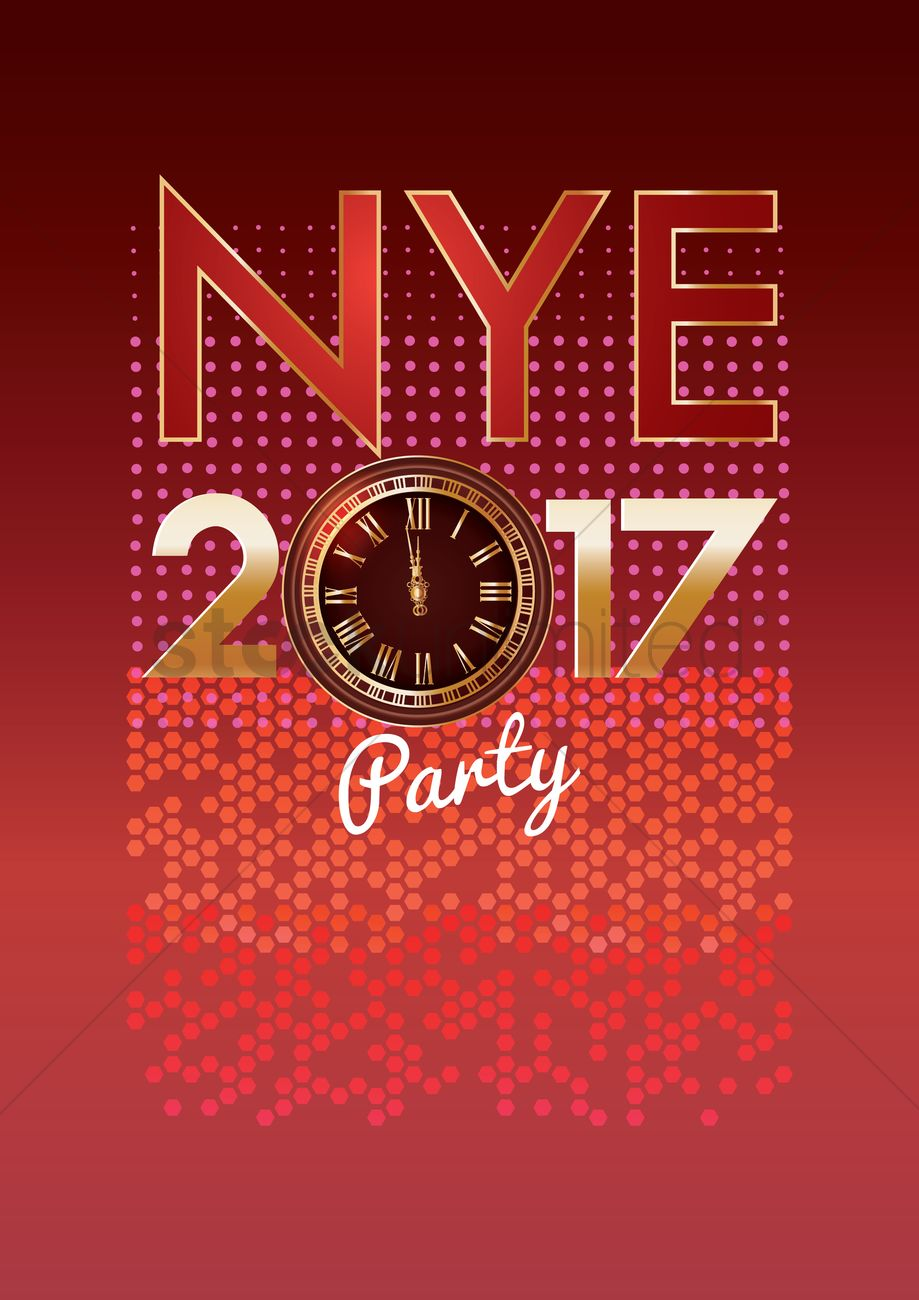 2017 new years eve party Vector Image - 1940101 ...