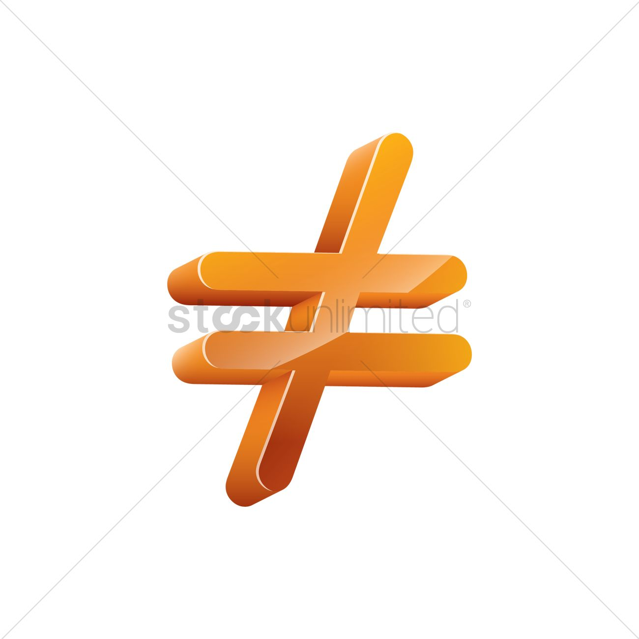 3d Inequality Symbol Vector Image 1828109 Stockunlimited