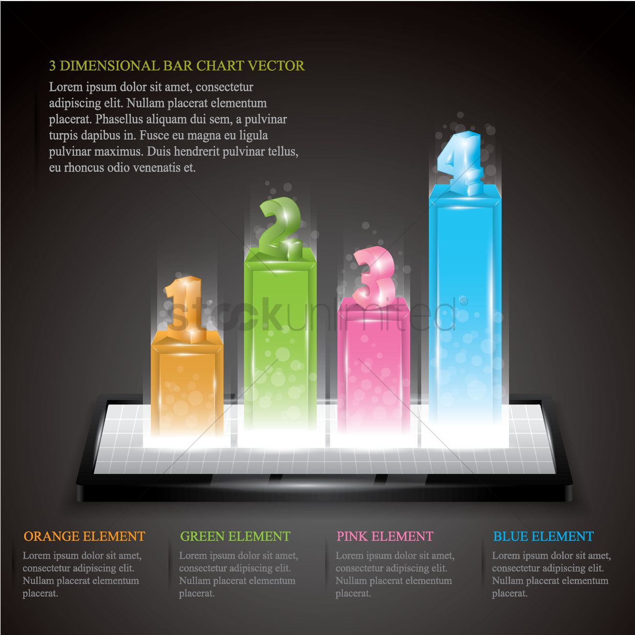 3d infographic bar chart vector image - 1566801 | stockunlimited
