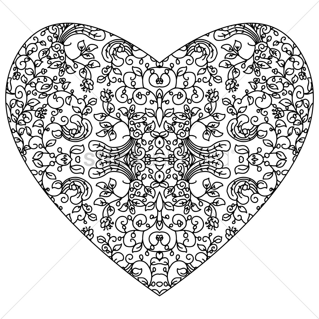 Abstract Intricate Heart Design Vector Image 1959757