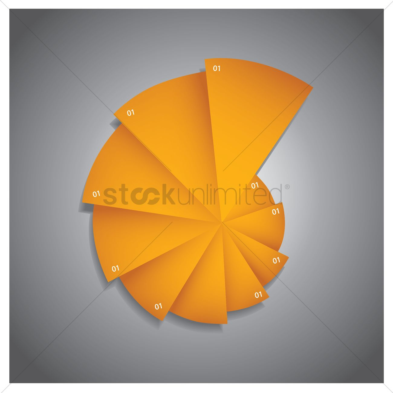 Abstract pie chart vector image 1517181 stockunlimited abstract pie chart vector graphic nvjuhfo Choice Image