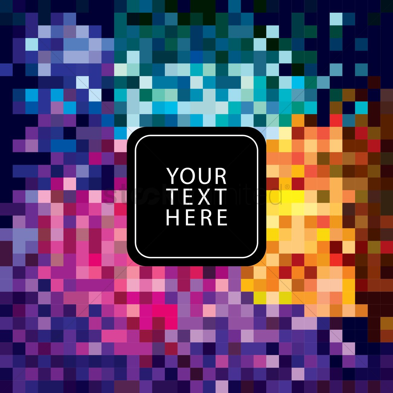 Abstract pixelated background Vector Image - 1527449