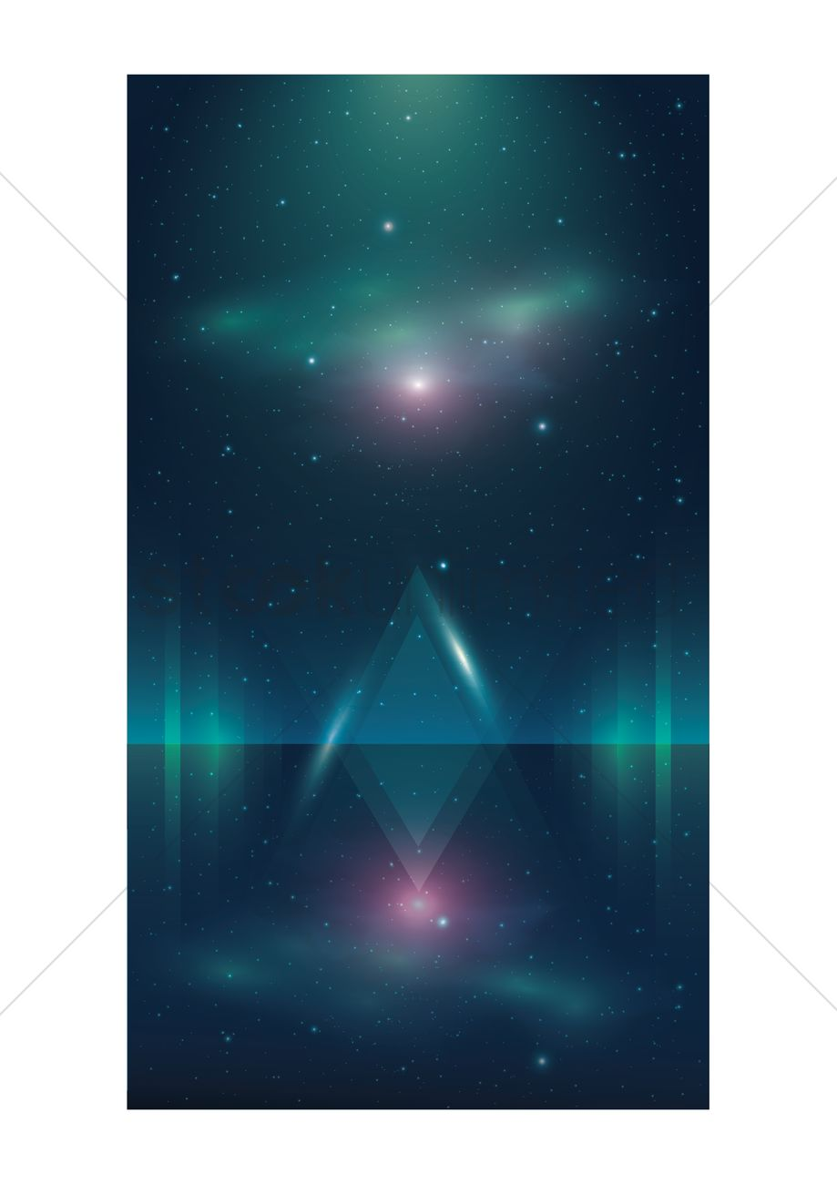 Abstract Wallpaper For Mobile Phone Vector Graphic