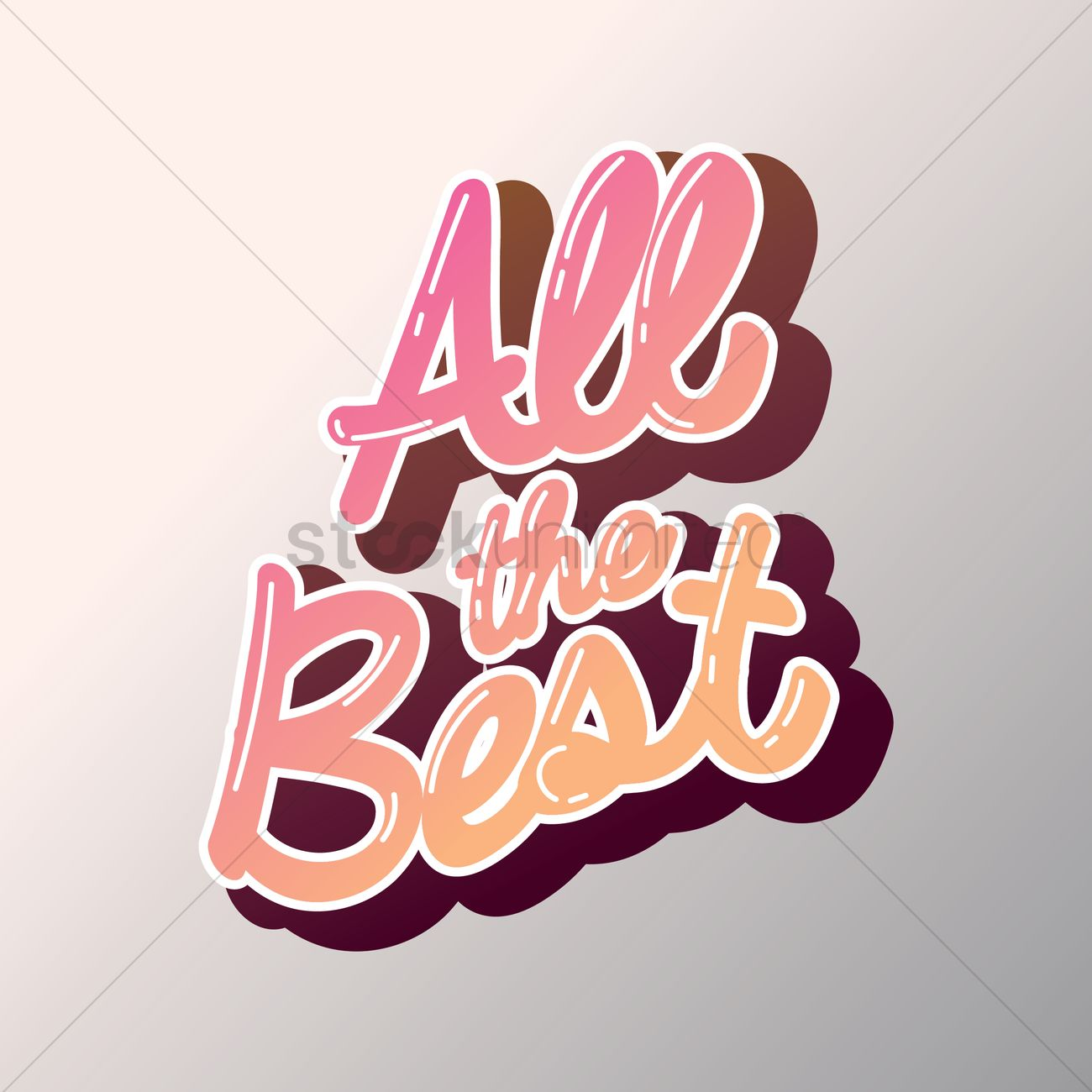 All The Best Greeting Vector Image 1811277 Stockunlimited