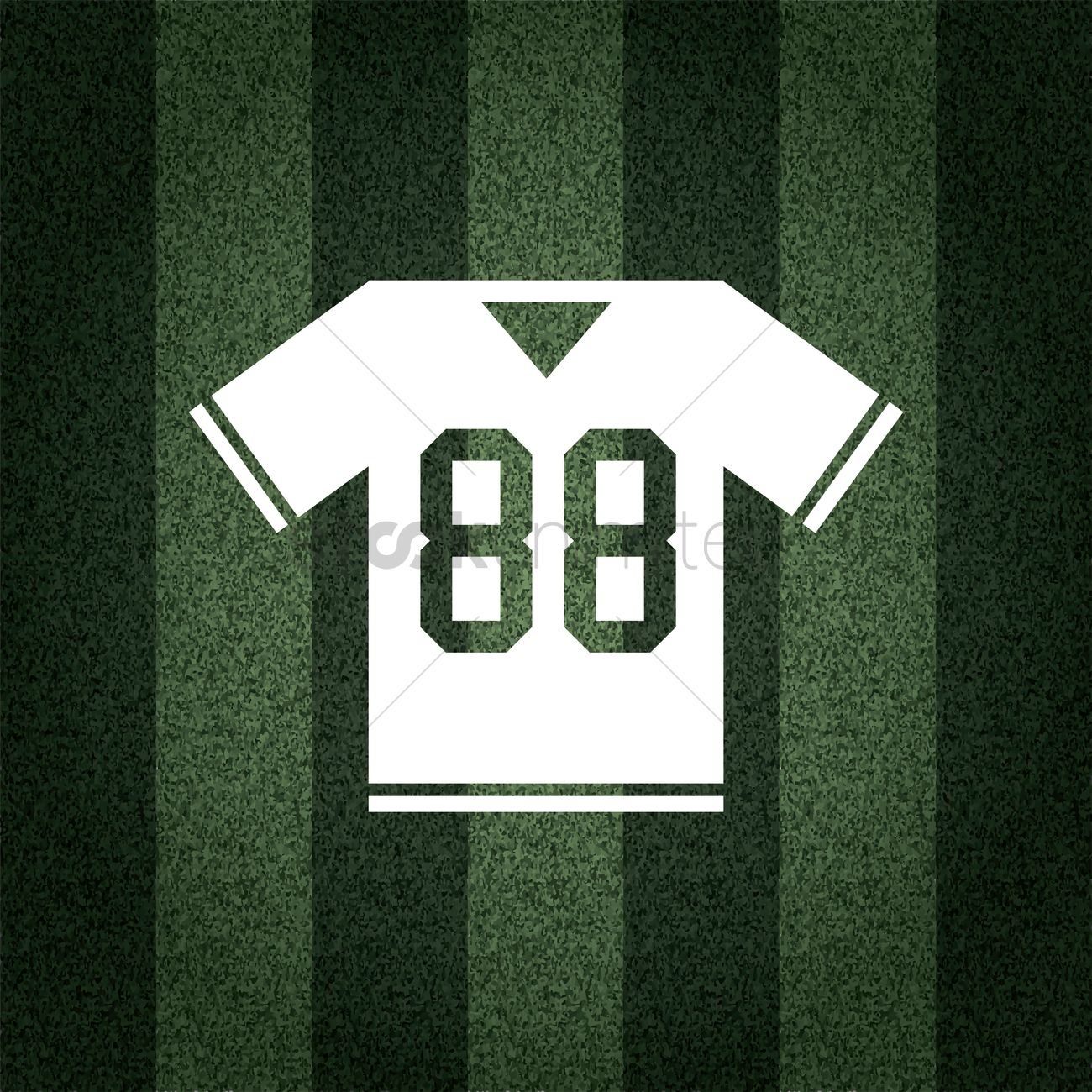 free american football jersey on striped background vector image