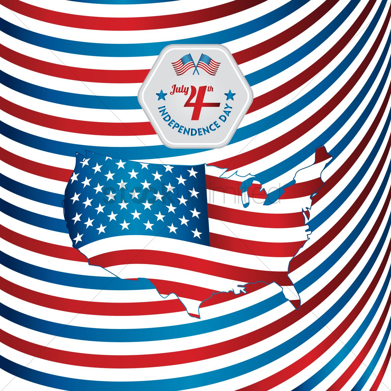 American independence day poster Vector Image - 1530433 | StockUnlimited