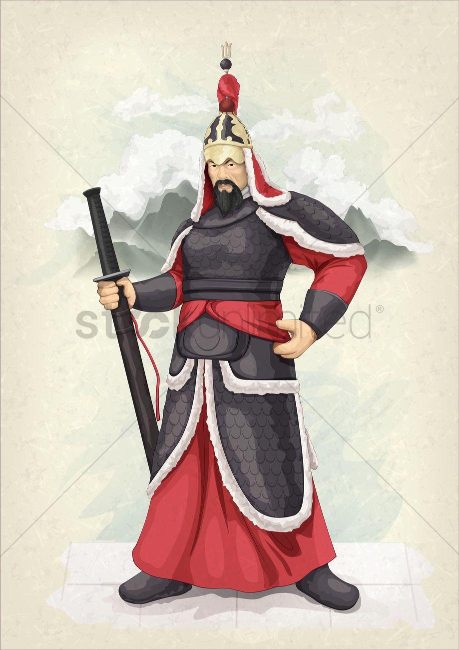 Ancient korean warrior Vector Image - 1510381   StockUnlimited