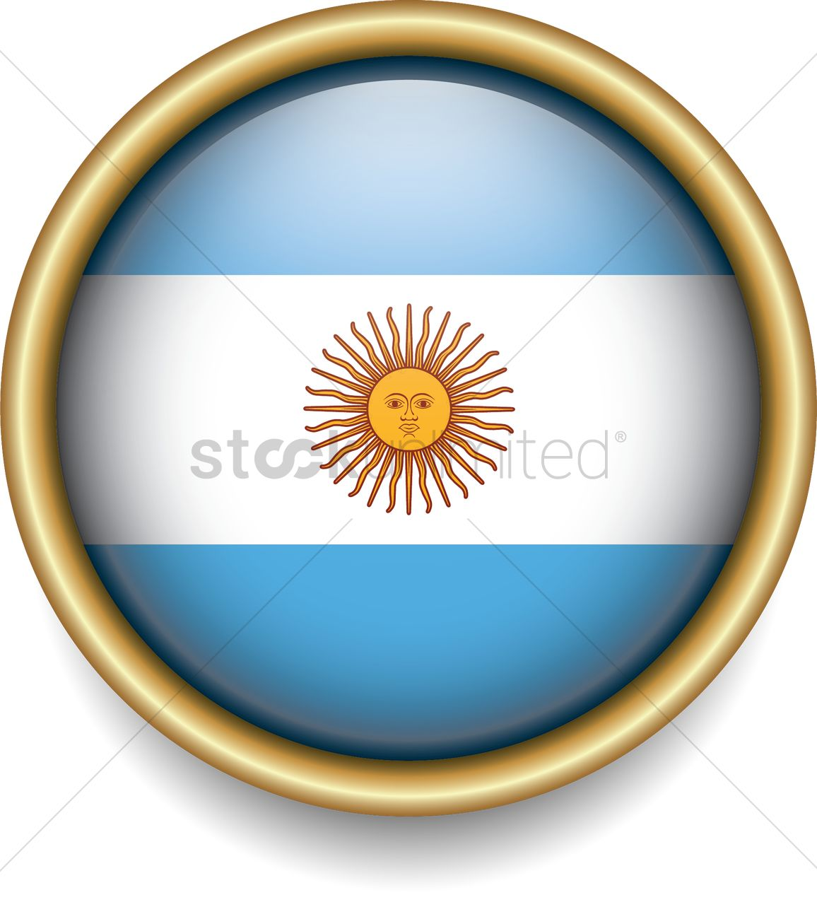 Argentina Flag Icon Vector Image 2088169 Stockunlimited