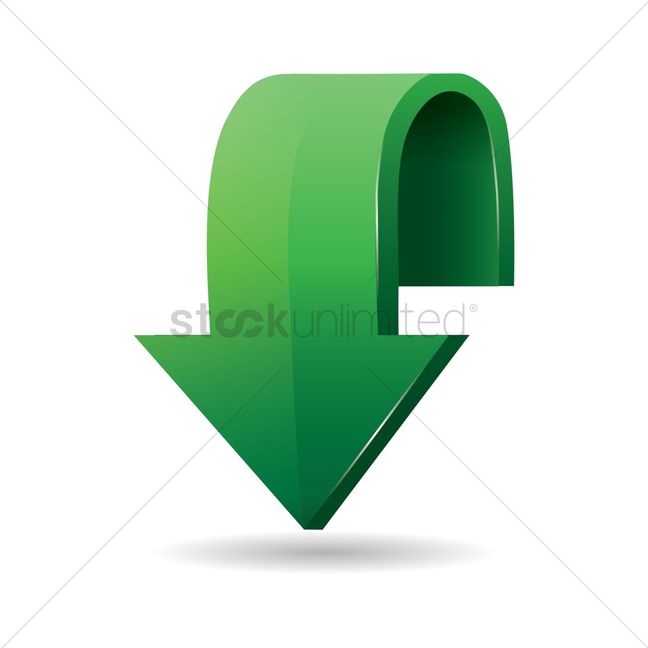 Arrow Pointing Down >> Arrow Pointing Down Vector Image 1870517 Stockunlimited