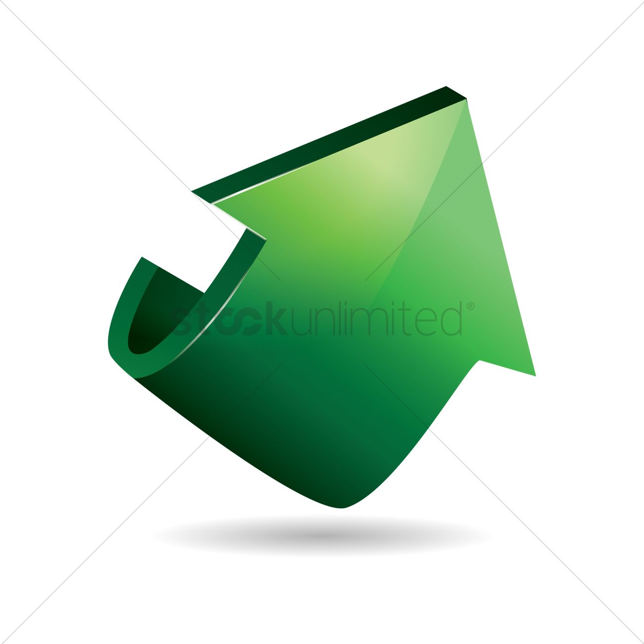 arrow pointing up vector image 1869921 stockunlimited