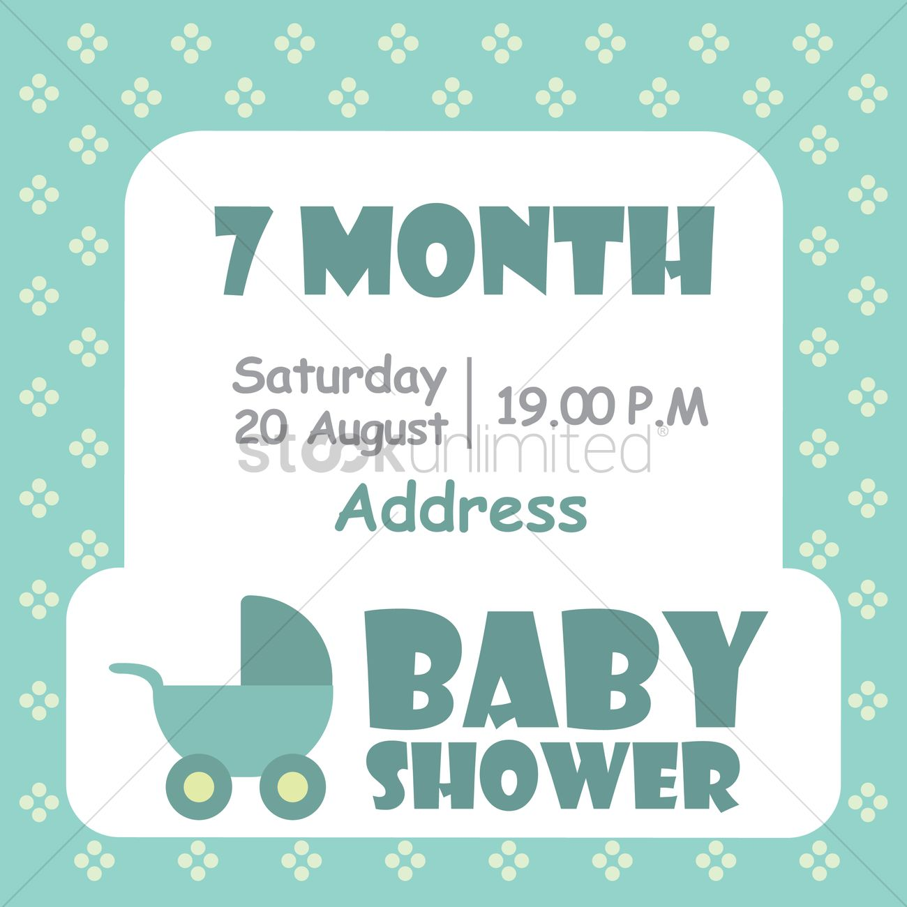 Baby Shower Invitation Card Vector Image 1797693