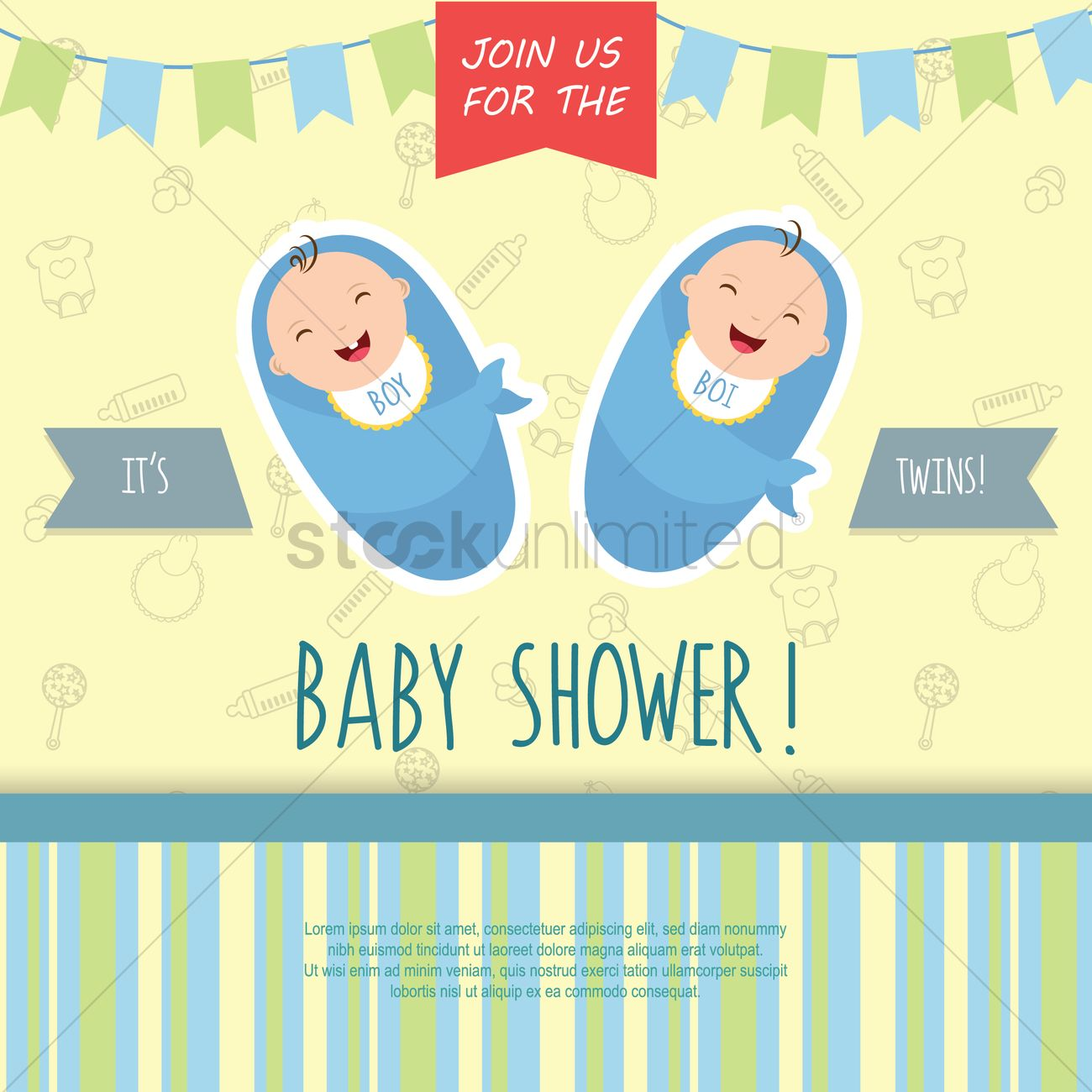 Baby shower invitation vector image 1820369 stockunlimited baby shower invitation vector graphic stopboris Image collections