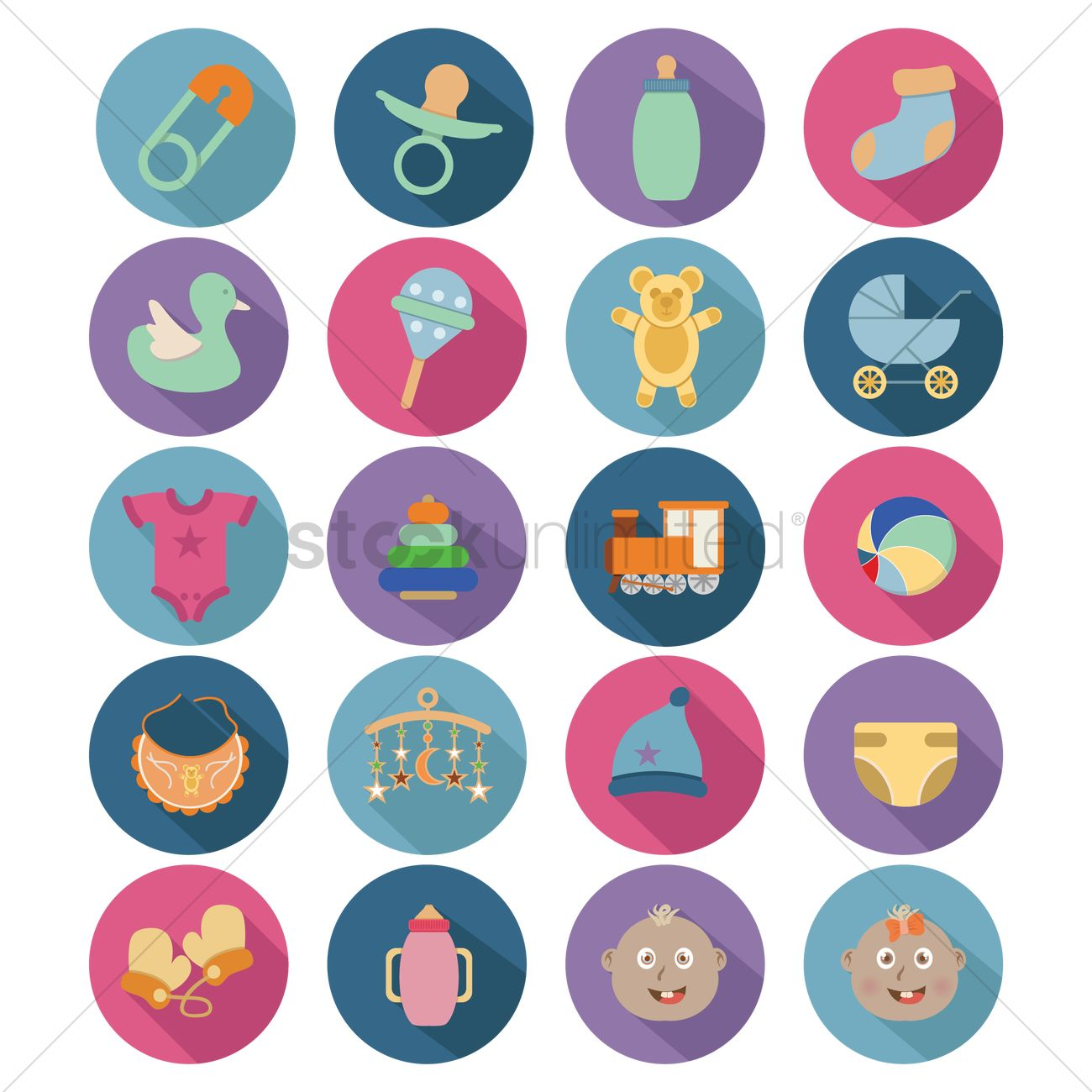 Baby stuff icons Vector Image - 1270261   StockUnlimited