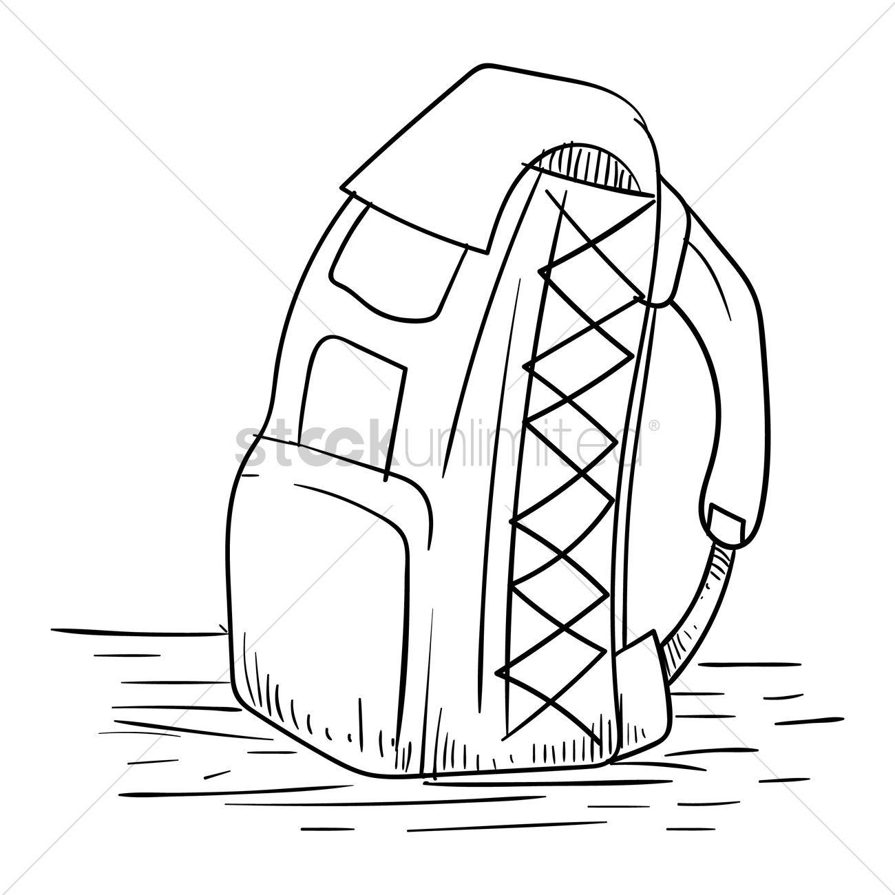 free backpack vector image 1567309 stockunlimited