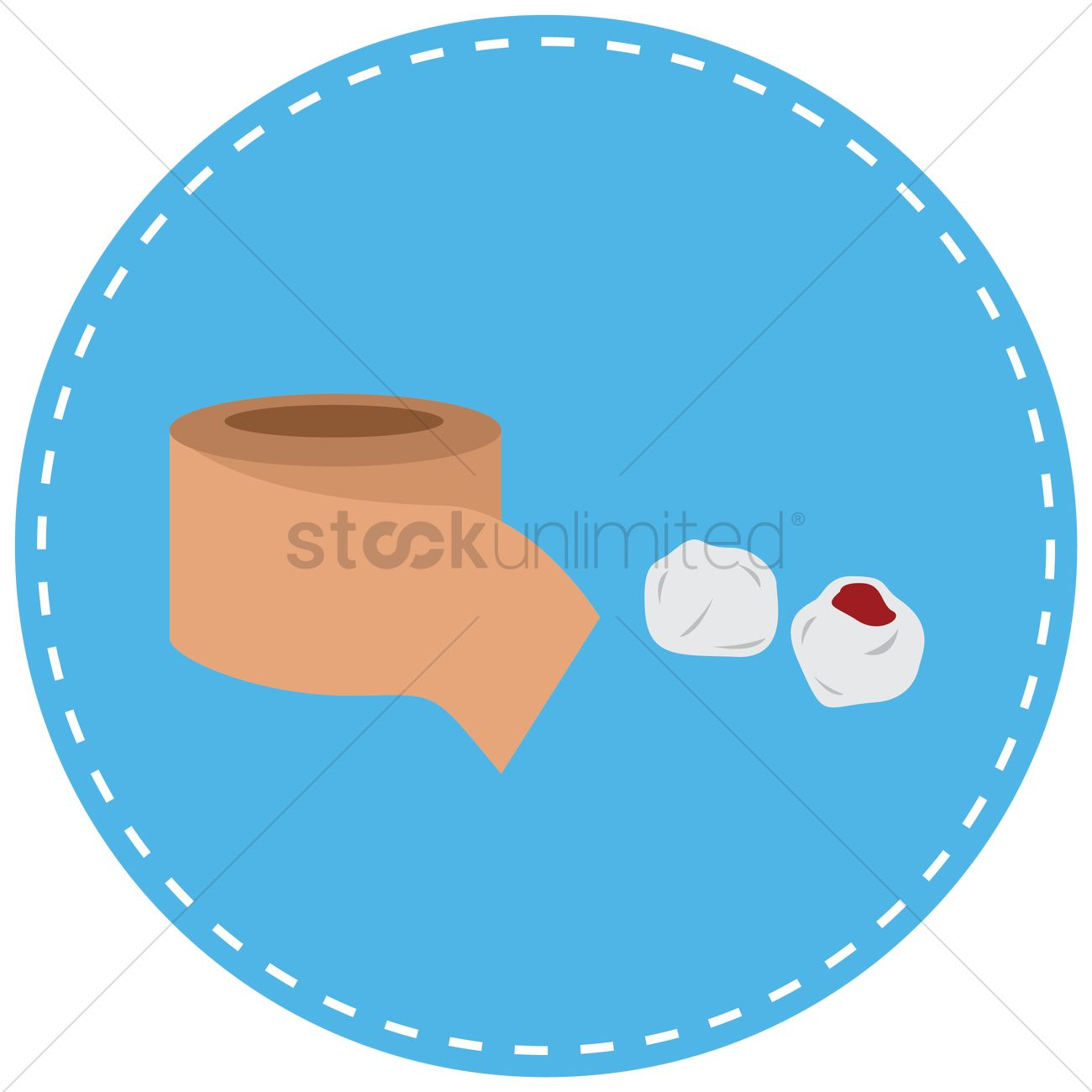 Bandage And Blood Stained Cotton Ball Vector Image 1337125 Bal Graphic