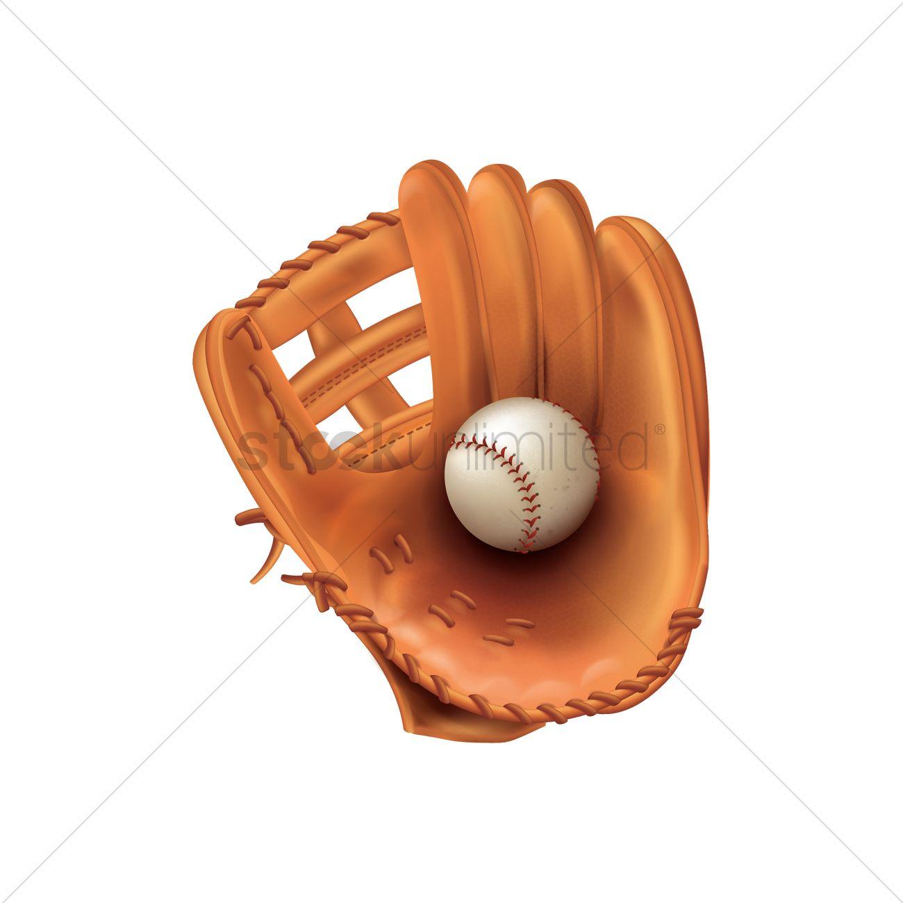 baseball glove with ball vector image 1805881