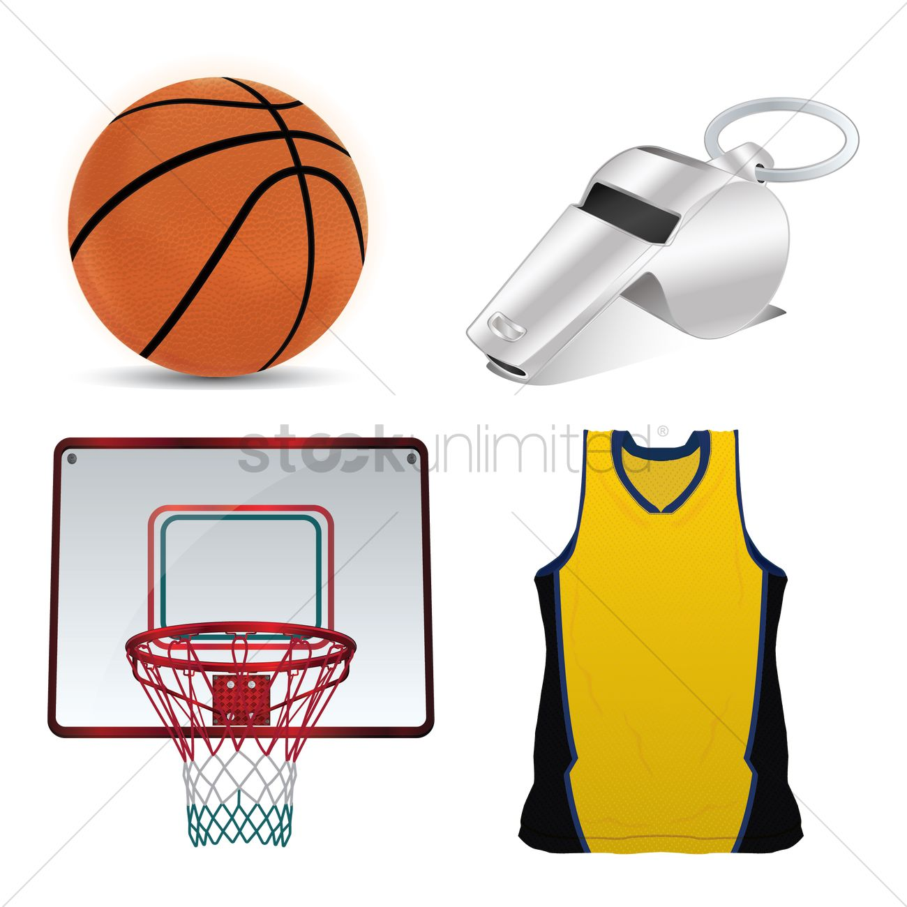34a5bd21232e Basketball equipment Vector Image - 1533601