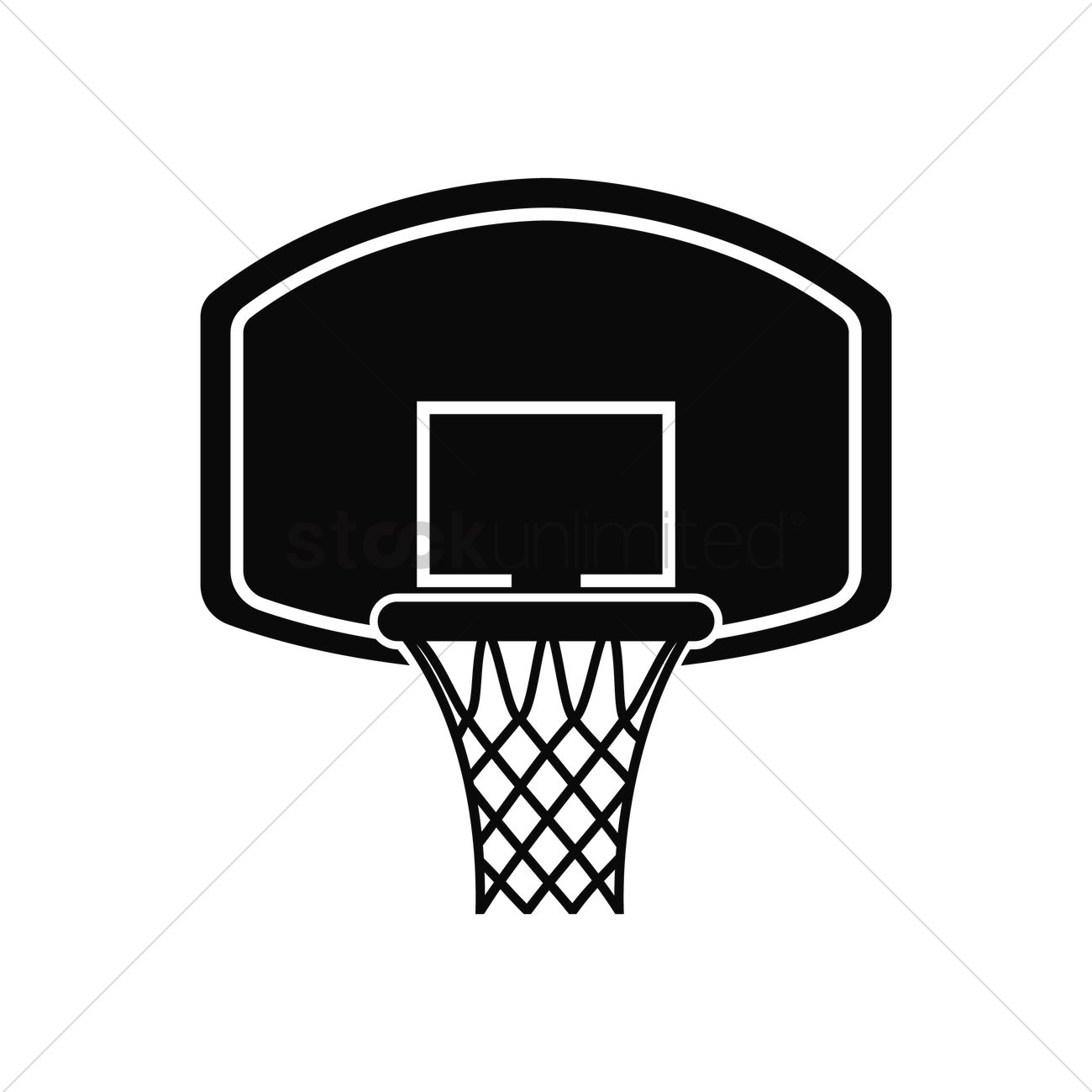 Basketball hoop vector image 1979513 stockunlimited for Free basketball vector