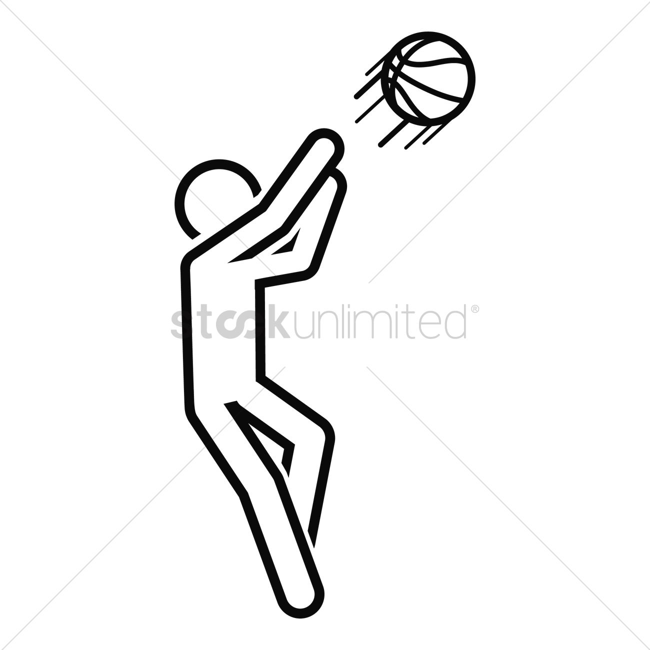 Uncategorized How To Draw A Basketball Player basketball player vector image 1979505 stockunlimited graphic