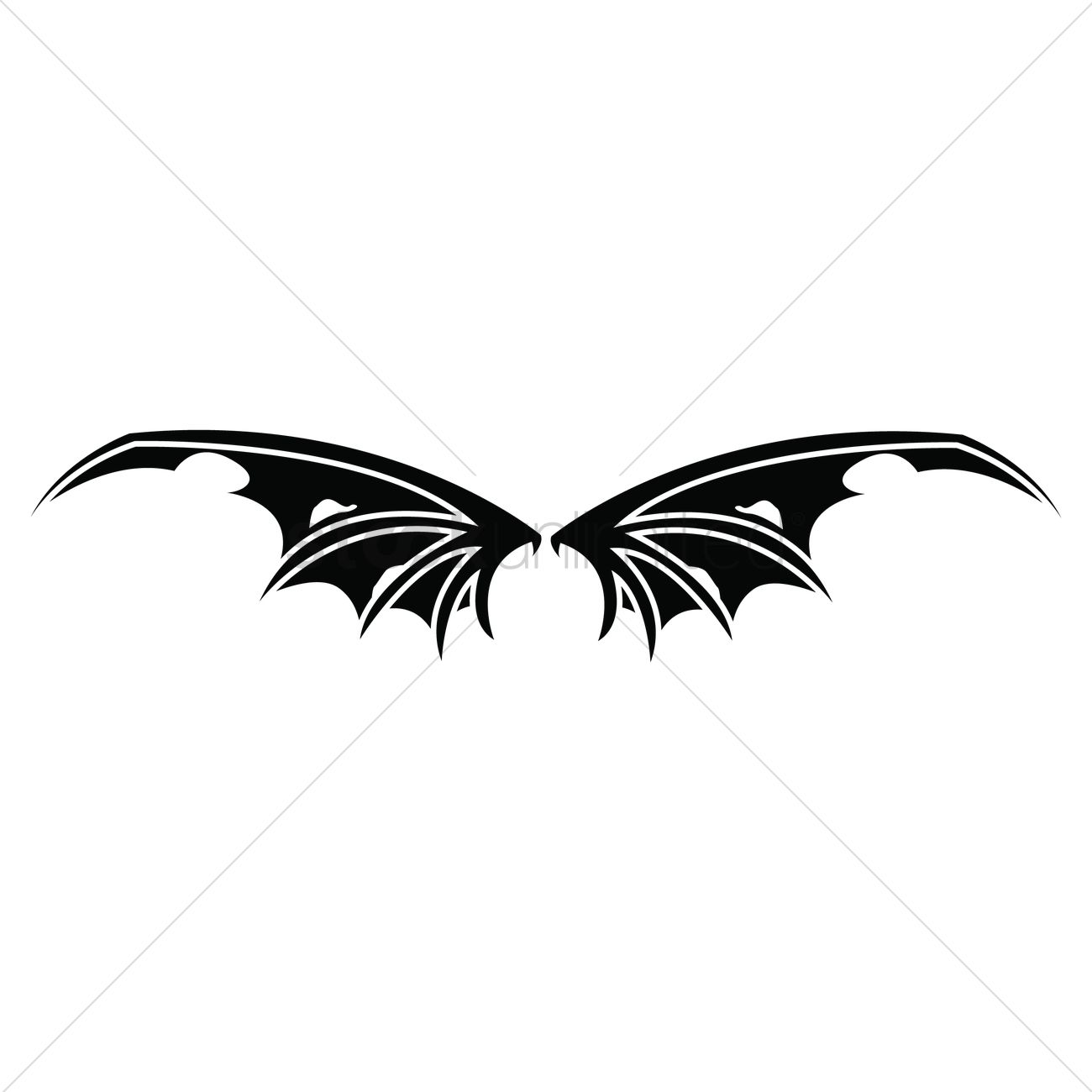 bat wings vector image 1525413 stockunlimited rh stockunlimited com