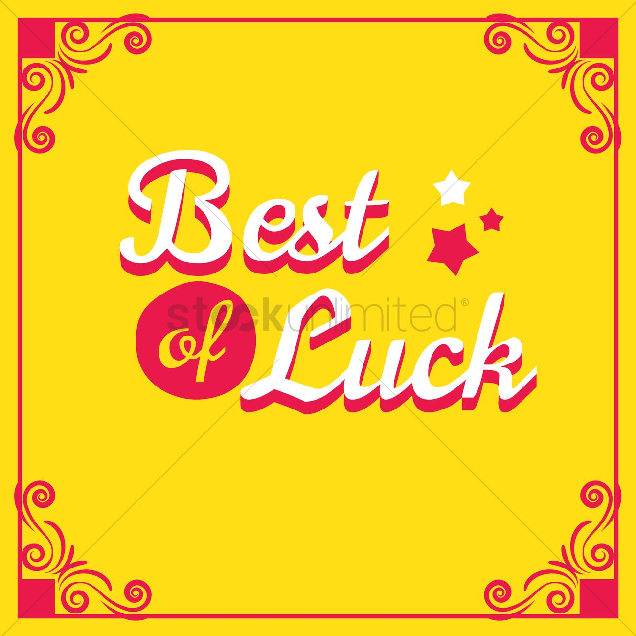 Best of luck greeting vector image 1616985 stockunlimited best of luck greeting vector graphic kristyandbryce Images