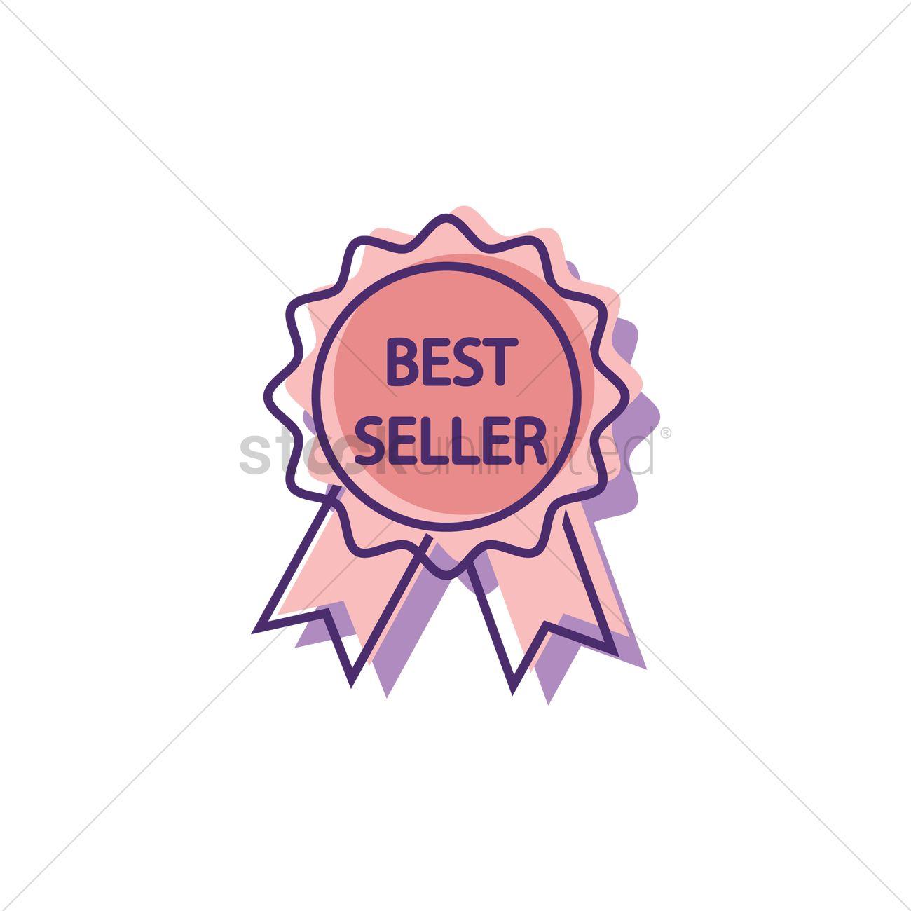 Best seller ribbon badge Vector Image - 2019897 | StockUnlimited