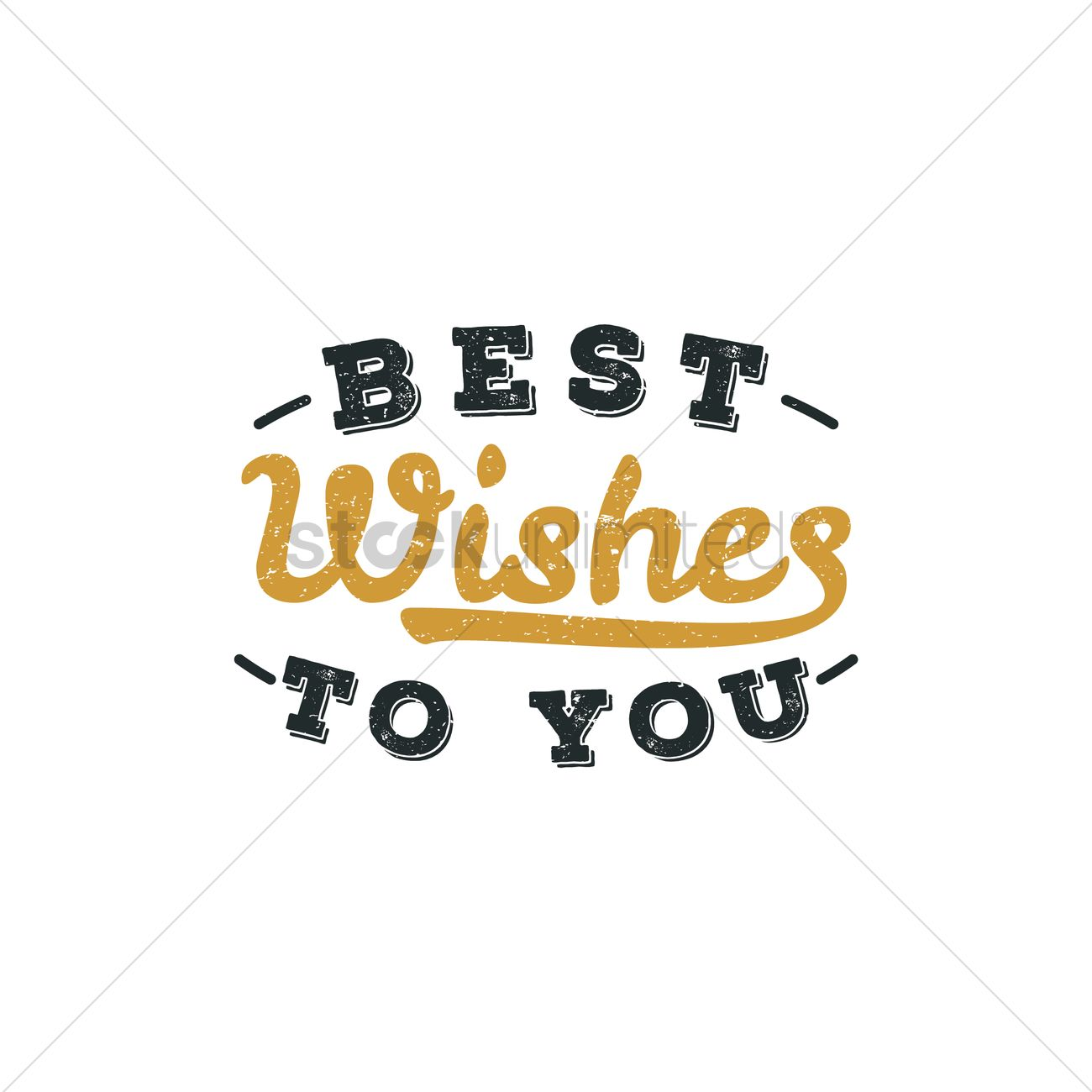 Best Wishes To You Hand Lettering Vector Image