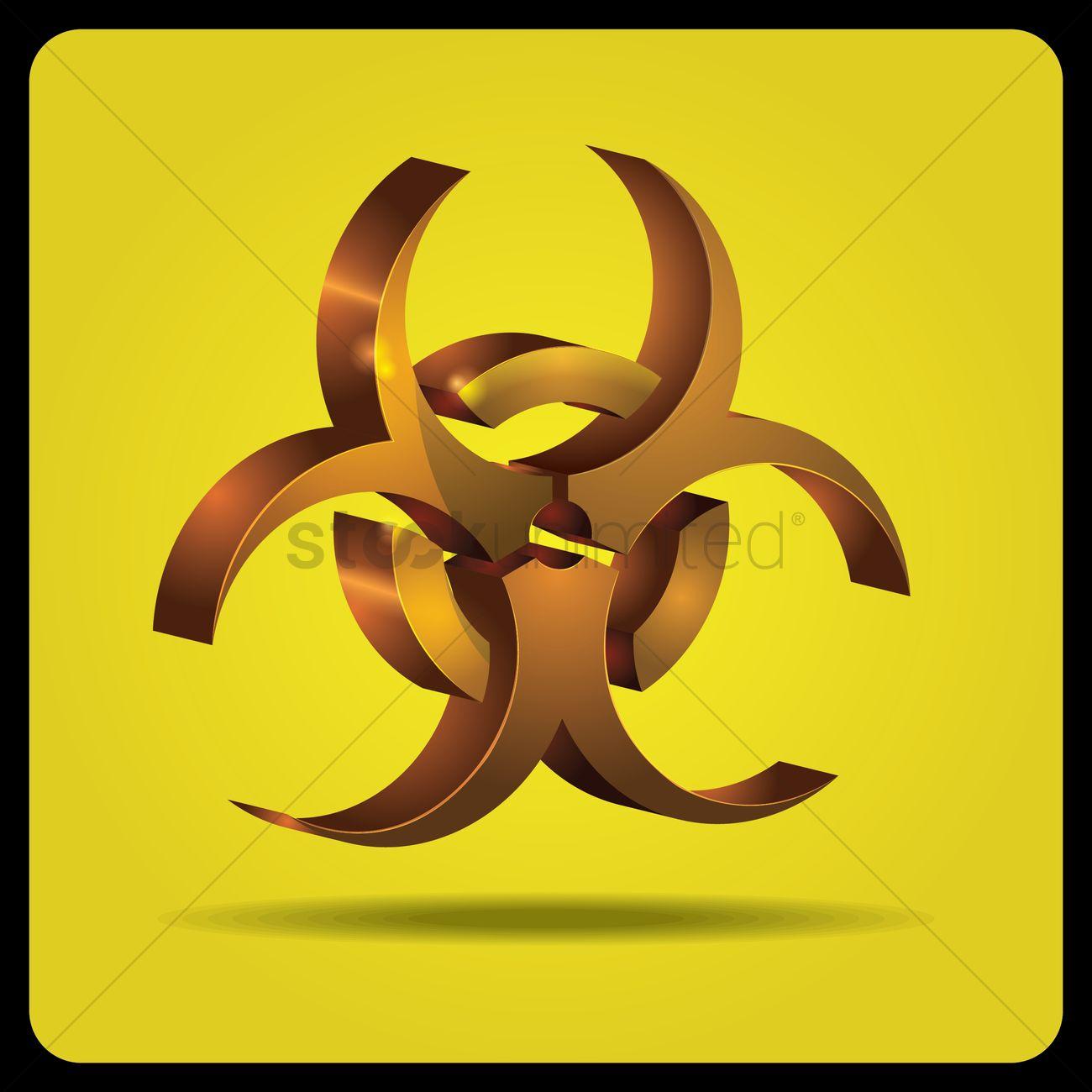 Biohazard Symbol Vector Image 1608153 Stockunlimited
