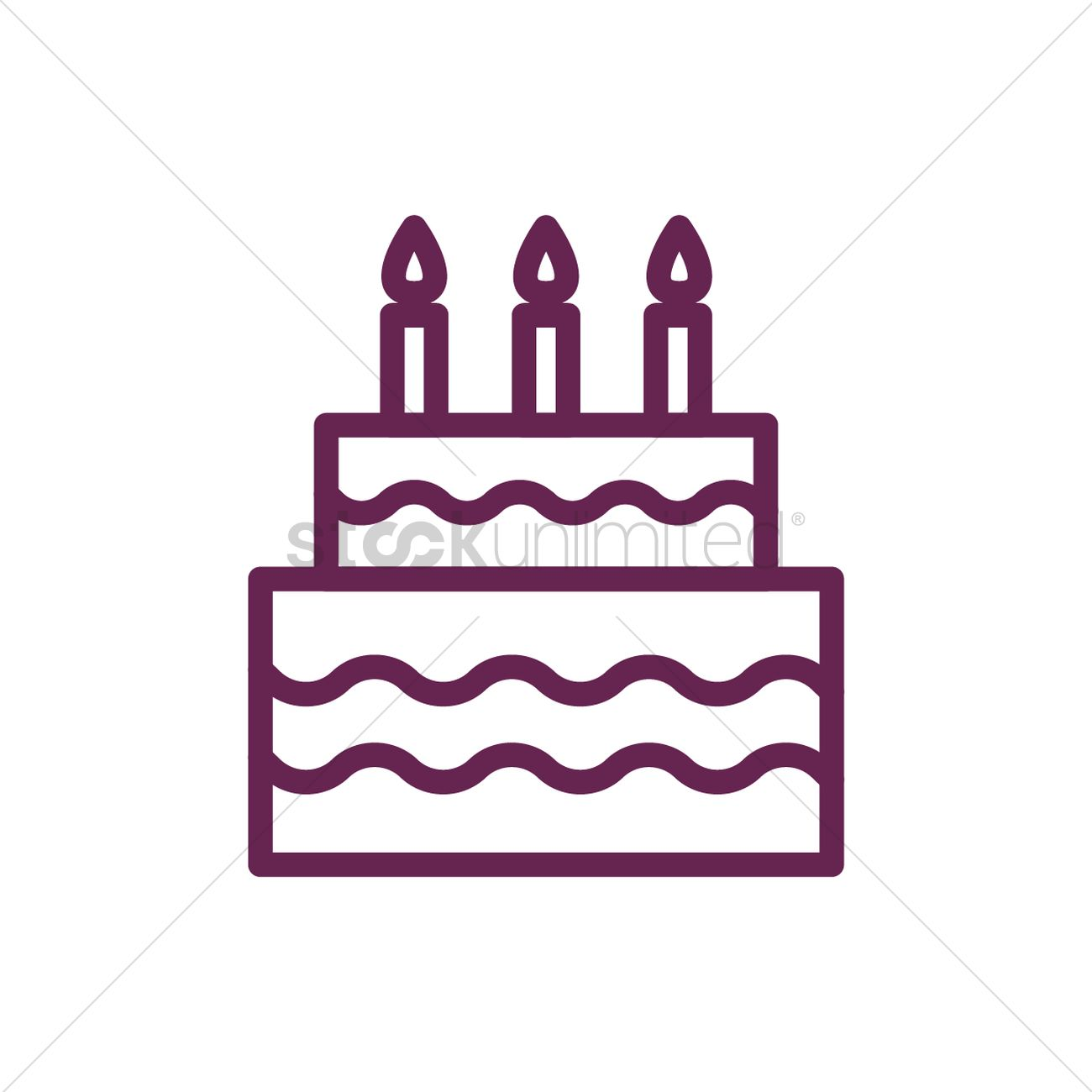 Birthday Cake Vector Image 2025225 Stockunlimited