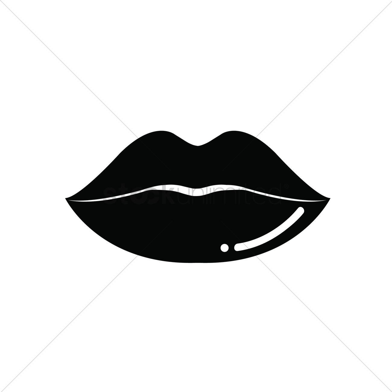 Lips Vector Black Black lips Vector Imag...