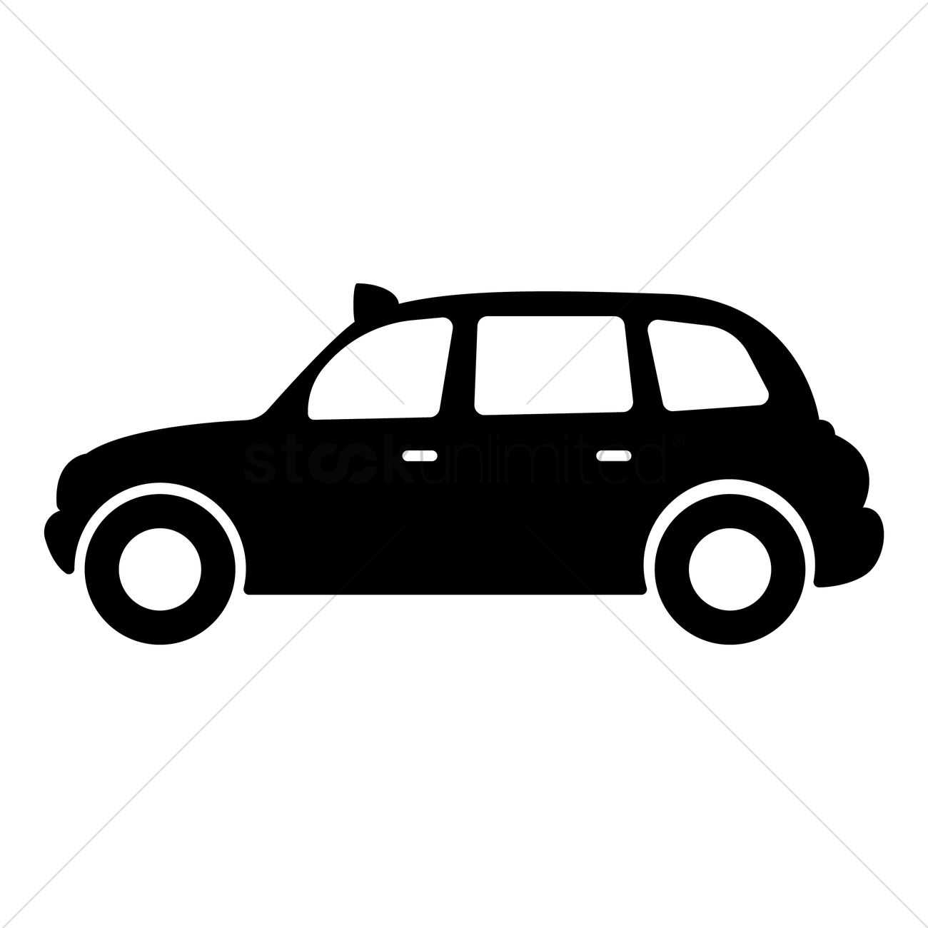 Black taxi Vector Image - 1573985 | StockUnlimited
